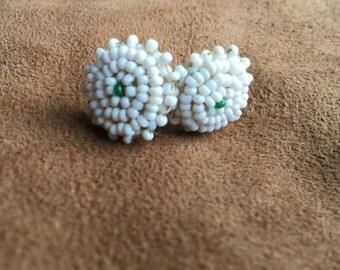 Southwestern Beaded Vintage Screwback Earrings