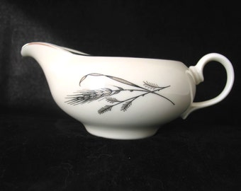 Fine Arts (Society) Harvest Time Creamer with Silver Gray Wheat Vintage 1950's Fine China