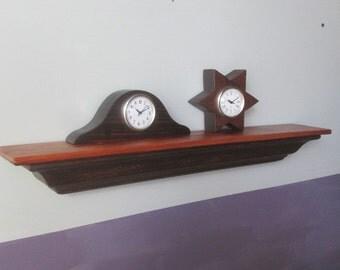 Wall Shelf - Salvaged Wood Shelf - Wood Wall Shelf - Small Shelf - Crown Molding Shelf - Handmade Shelf - Pine Wall Shelf - Dark Wall Shelf