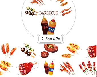 1 Rolls of Limited Edition Washi Tape- BBQ