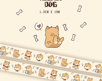 1 Roll of Limited Edition Washi Tape:Dog