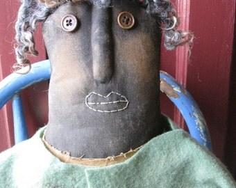 Primitive Grungy Folk Art~ Aunt Nabby ~31' tall Gardening Doll ~Hafair