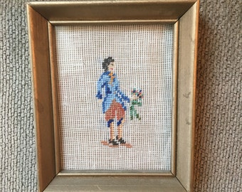 Vintage framed cross stich