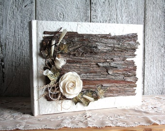 Wooden wedding album photos, Wooden guestbook, Rustic chic guestbook, Wooden scrapbook, Bridal gift, Wedding Guestbook, Wood  guest book