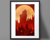 Bloodborne Art Print Yharnam Hunter Video Game Poster
