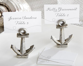 Nautica Theme Placecards (Set of 18), Wedding Decorations, Bridal Shower Decorations, Placecard Holders