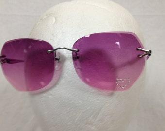 purple pink sun glasses