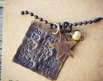 good friends are like stars necklace