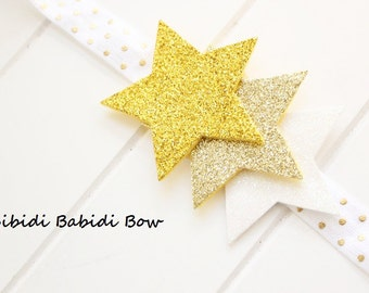 Star headband- Baby girl headband- Gold star headband-Toddler headband- Infant headband- Hair accessory- Photo prop-