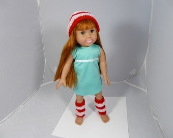 18 inch Doll Clothes - Hat and Legwarmers