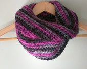 Valentines Scarf .. Pink Infinity Scarf .. Black Infinity Scarf .. Gray Infinity Scarf .. Cowl Scarf .. Winter Scarf .. Chunky Crochet Scarf