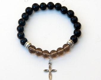 Cross bracelet, religious bracelet, christian bracelet, cross jewelry, catholic jewelry, religious jewelry, spiritual bracelet, faith