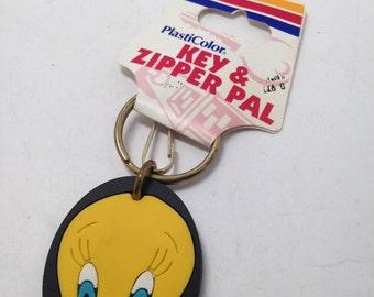Vintage Looney Tunes Keychain Tweety Bird