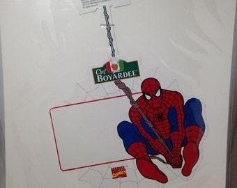 Chef Boyardee Spider-Man Marvel comics shelf tag