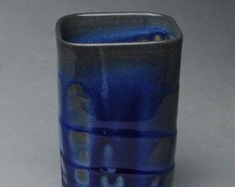 Tumbler Wine Cup Soda Fired Blue C18