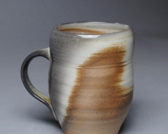 Clay Coffee Mug Beer Stein  Wood Soda Fired  D84