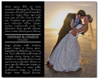 Wedding photo print any song lyrics wedding song first dance for Unique first dance wedding songs