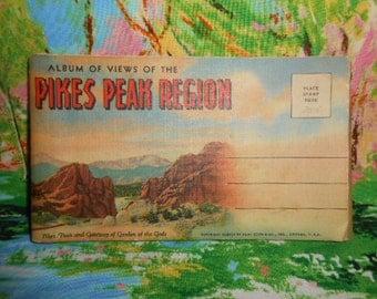 Vintage Post Card Album Of The Pikes Peak Region