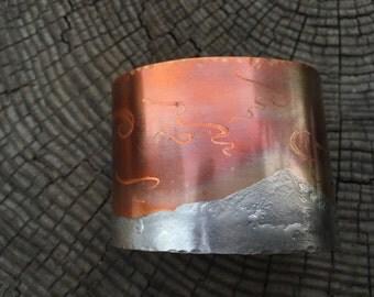 Northern Lights Copper Cuff