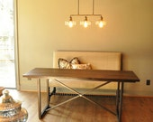 the FAYE - Console, Desk or Dining Table - Custom Reclaimed Wood