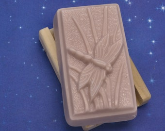 DRAGON'S BLOOD GOAT'S Milk Bar Soap Handmade Earthy Dragonfly For Him Dragons