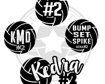 BUY 2 and GET 3rd Decal FREE ! Personalized Volleyball Decal
