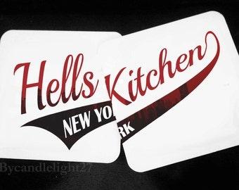 Hell's Kitchen - New York - Daredevil - Hardwood Coasters