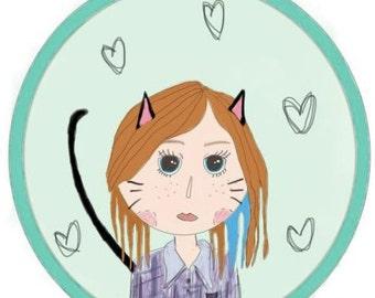 Custom self portrait doodle