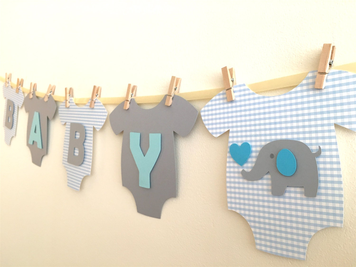 Booth design pictures to pin on pinterest - Baby One Piece Bodysuit Quot Baby Boy Quot Elephant Baby Shower Banner Blue