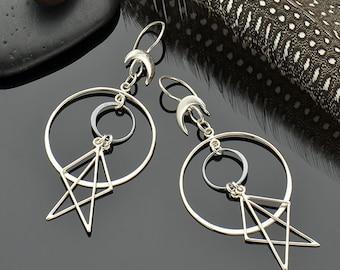 Geometric Earrings; Circle Geometric Earrings