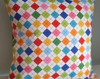 Bright Argyle Cushion / Pillow cover