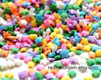 Candy Sprinkles Photographic Art - DIGITAL DOWNLOAD - Bakery Decor Star Sprinkles Sweet Tooth - Printable JPG