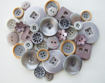 Shades of Grey Button Collection [B0820]