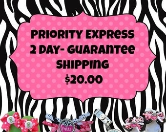 Priotiy express 2 day guarantee