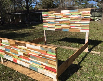 Reclaimed Wood King Bed