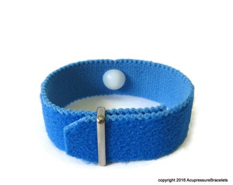Multi-Symptom Bracelet for Anxiety, Insomnia, Stress, Headaches (one bracelet) Blue