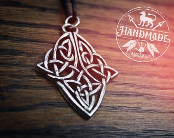 Celtic Diamond Knot Pendant -- Viking/Norse/Medieval/Knotted/Knotwork