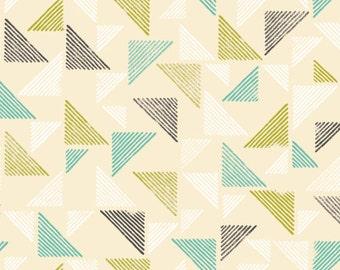 FREE SHIP 1/2 Yard Blockprint - Landscape Collection - Cloud9 100% Organic Cotton Fabric