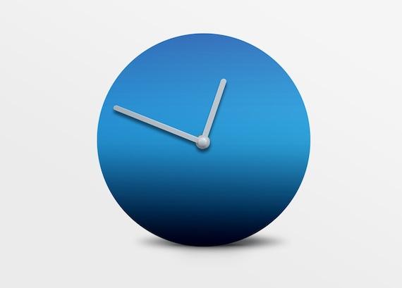 Faris by Hey Fishy,Premium gradient blue designer wall clock