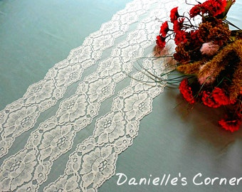 Lace table runner wedding lace table runner lace table topper lace overlay bridal shower banquet runner