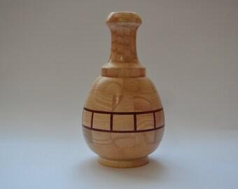 Small Segmented Wood Vase