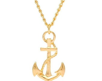Anchor Necklace Mens Necklace,Mens Jewelry,Nautical Jewelry