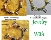 Custom Made Stone Magick Charm Bracelet Pick Your Intention