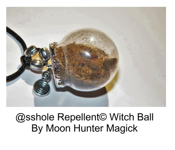 Banishing @sshole Repellent Mini Witch Ball Curio Charm Pagan Amulet Charm Talisman