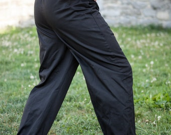 DISCOUNTED PRICE! READY to ship! Medieval Cotton Trousers; Classic Straight Pants