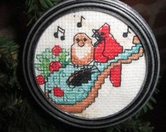 Birds and Mandolin Christmas Tree Ornament