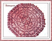 PATTERN bead weaving doily cooper