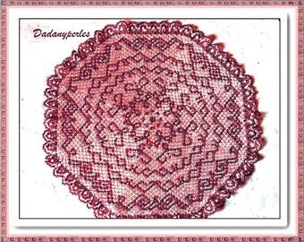 PATTERN bead weaving doily cooper