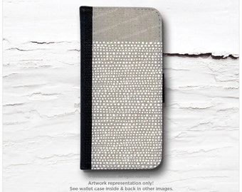 iPhone 6S Case Wallet, iPhone 6 Wallet Case Linen Print, iPhone 6s Case Polka Dots, iPhone 6 Wallet Case, iPhone 6S Flip Wallet Case I29