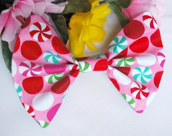 Peppermint Candy Christmas Bow